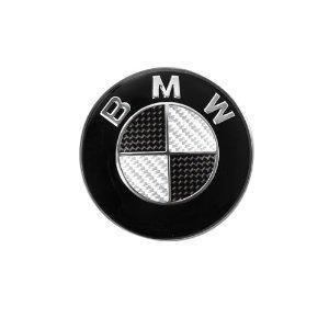 bmw kolfiber emblem till ratten 45mm