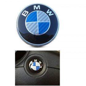 bmw kolfiber emblem blå