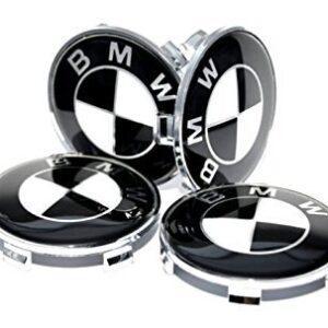bmw centrumkåpor i svart