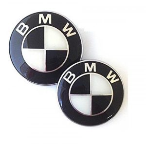bmw emblem svart