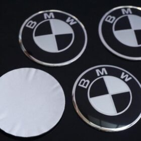 bmw fälgemblem i svart