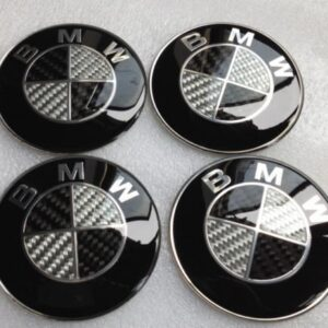 bmw kolfiber emblem stickers